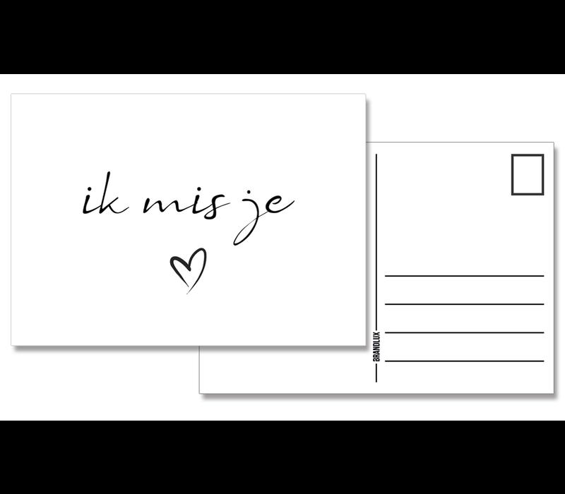Kaart | Ik mis je