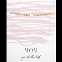 Armband goud | Hartje mom