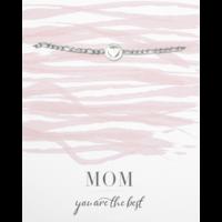 Armband zilver | Hartje mom