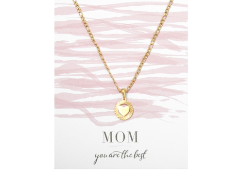 BrandLux Ketting goud | Hartje mom