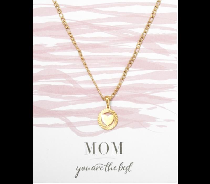 Ketting goud | Hartje mom