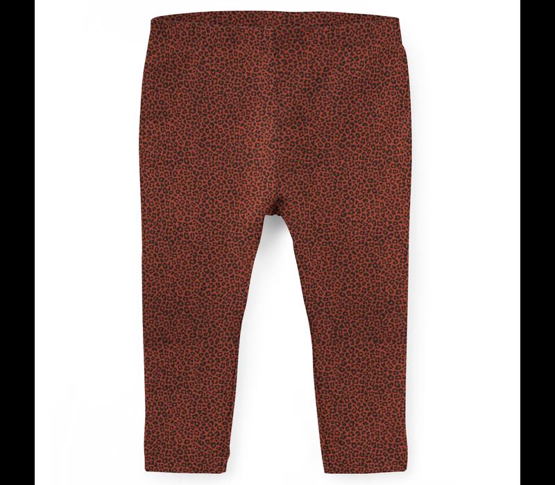 Legging | Leopard terracotta