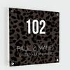 BrandLux Naambordje print | Leopard