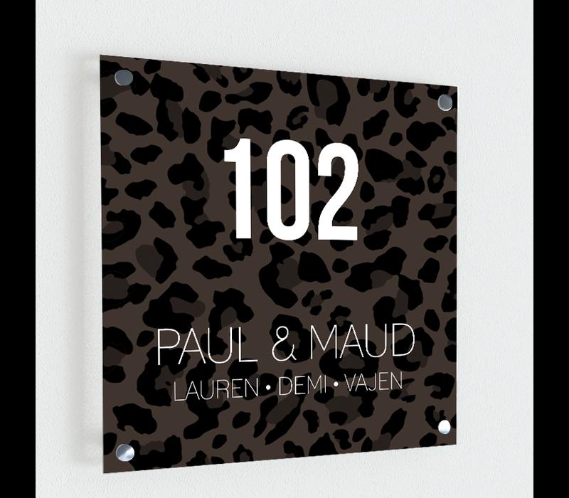 Naambordje print | Leopard