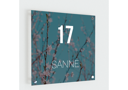 BrandLux Naambordje print | Blossom