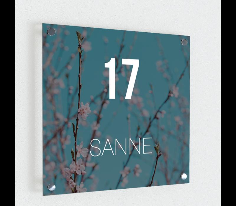 Naambordje print | Blossom