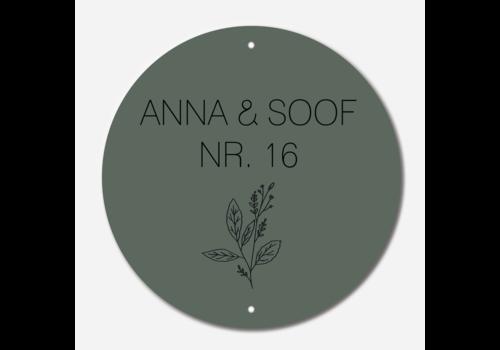 Label2X Naambordje print | Cirkel groen