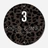 Label2X Naambordje print | Cirkel leopard