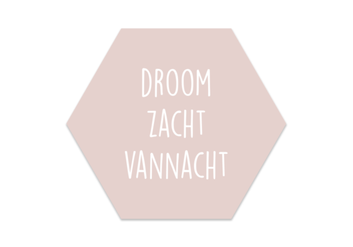 Label2X Muurhexagon kids | pastelroze droom zacht
