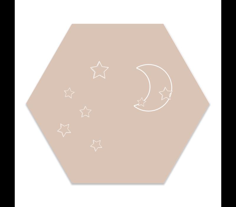 Muurhexagon kids | maan steren