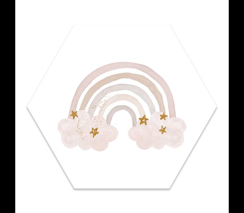 Muurhexagon kids | regenboog