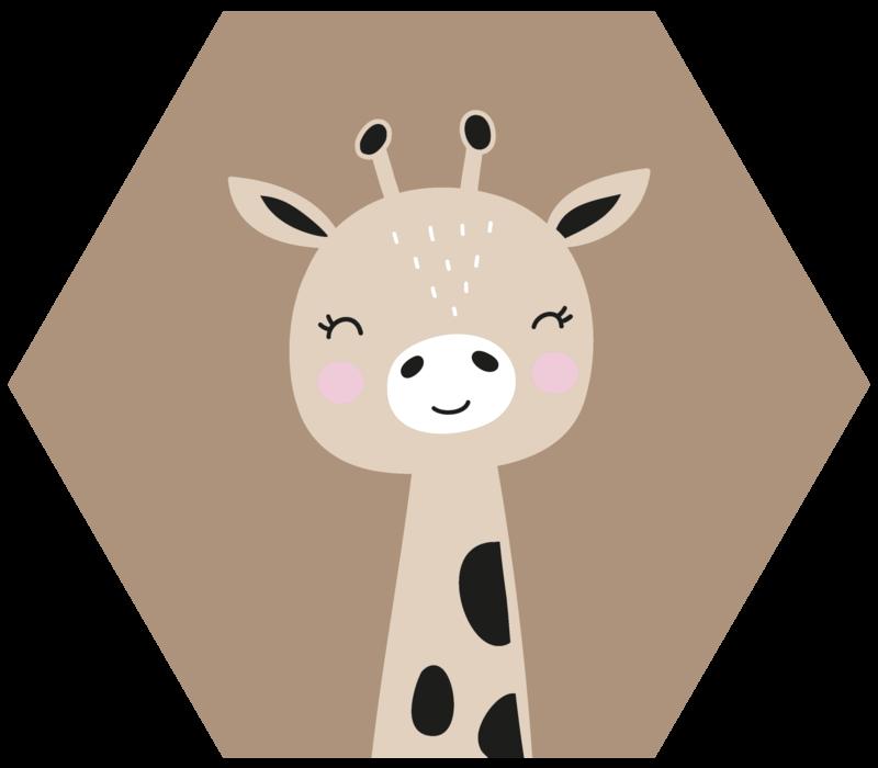Muurhexagon kids | giraffe
