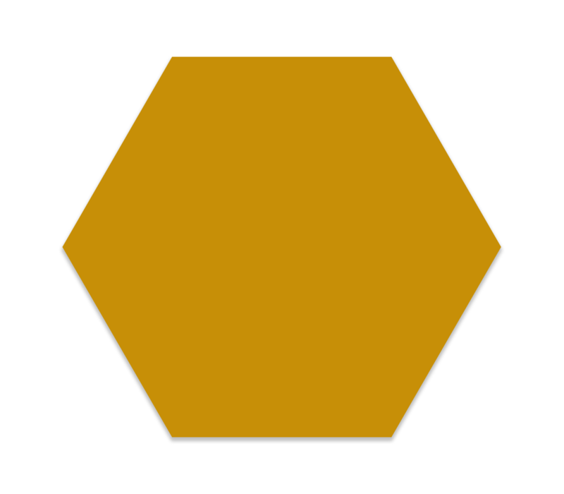 Muurhexagon kids | okergeel