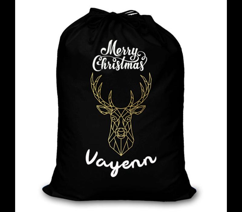 Kerstzak   Merry Christmas zak met eigen naam