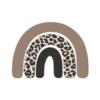 Label2X Wandfiguurtje regenboog leopard