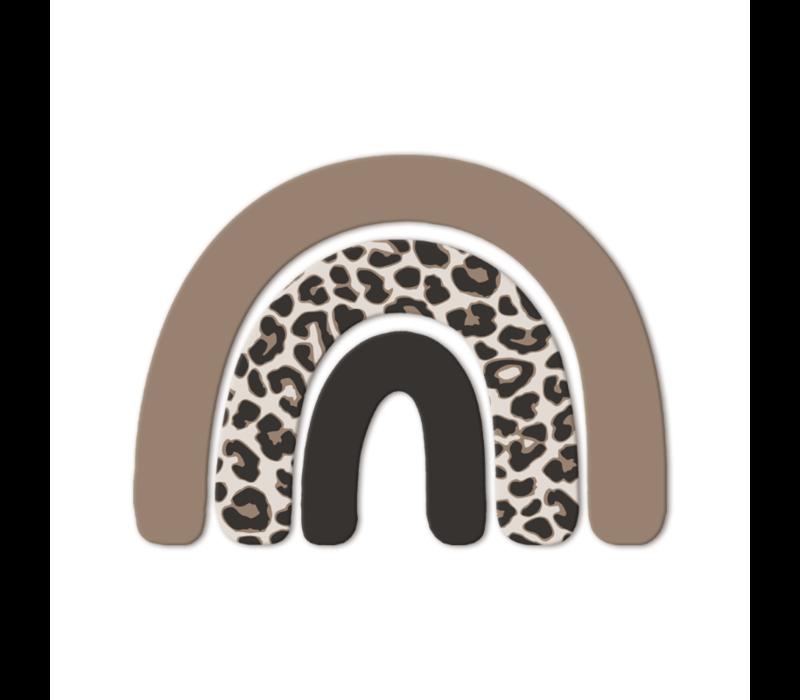 Wandfiguurtje regenboog leopard