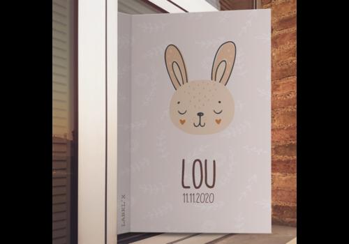 Label2X Geboorte raambord | Bunny
