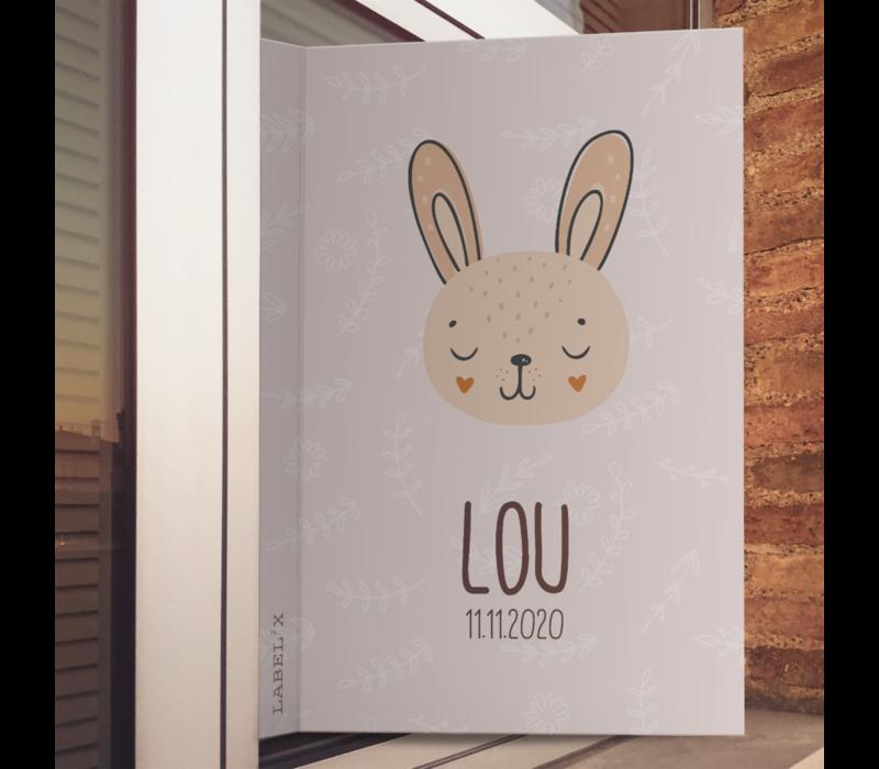 Geboorte raambord   Bunny