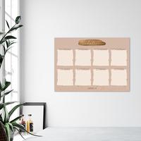 Weekplanner whiteboard sticker