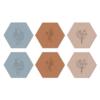Label2X Onderzetters minimalistic