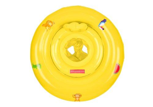 BrandLux Opblaasbare Zwemzitje Geel met dieren | 0-1 jaar.