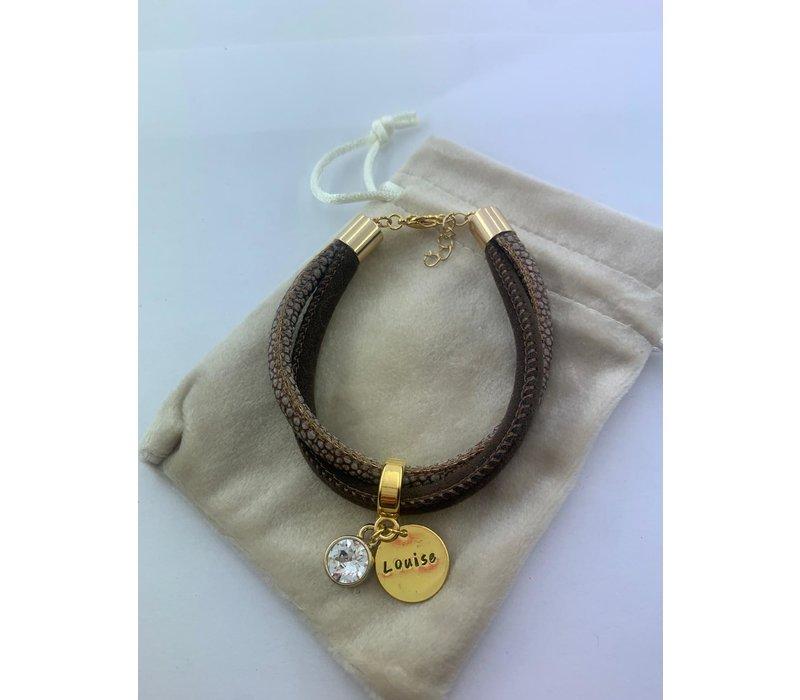 Armband | Brown snake