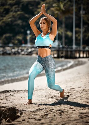 Let's Gym Let's Gym Legging degrade Turquoise