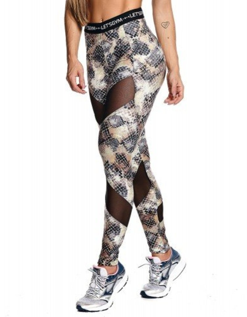 Let's Gym Let's Gym Legging Snakeskin Grey