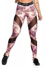 Let's Gym Let's Gym Legging Snakeskin Pink