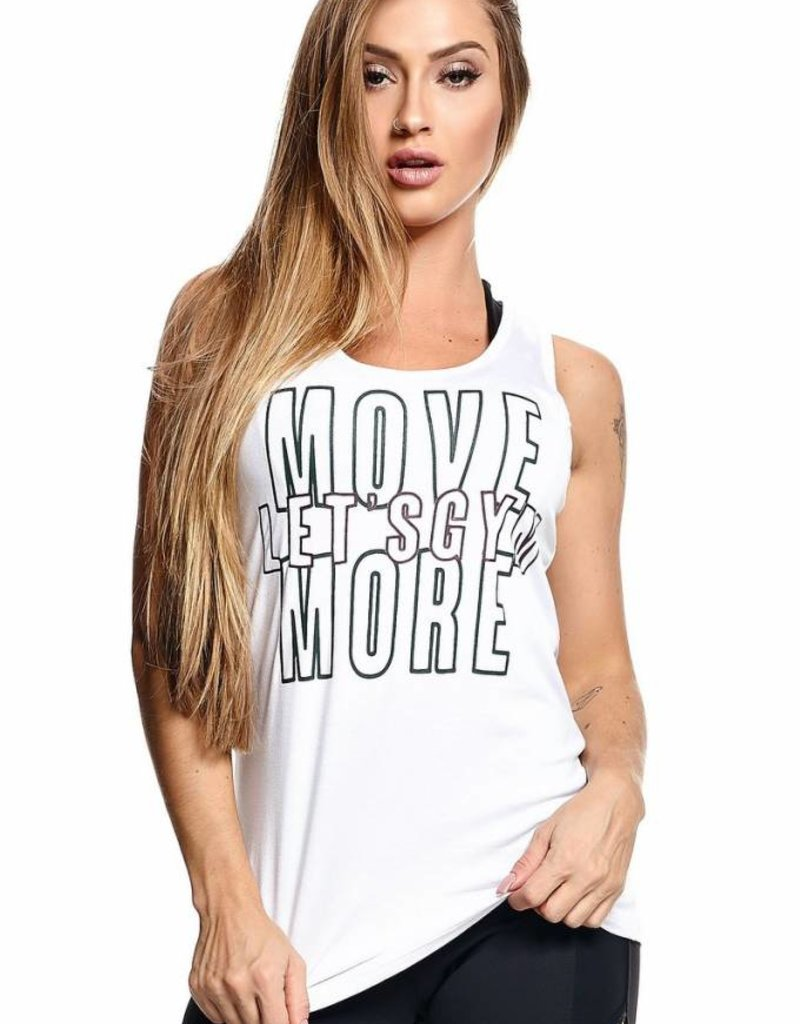 Let's Gym Let's Gym TankTop Move White
