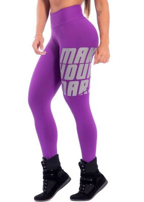 Superhot Superhot Legging Make Your Mark Purple
