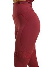 Better Bodies Better Bodies Legging Waverly Mesh Sangria Red
