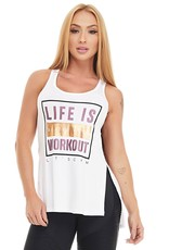 Let's Gym Let's Gym Tanktop Workout White