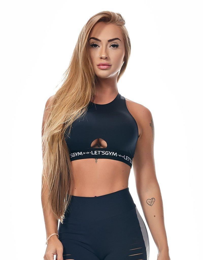 Let's Gym let's Gym Top Cross Black