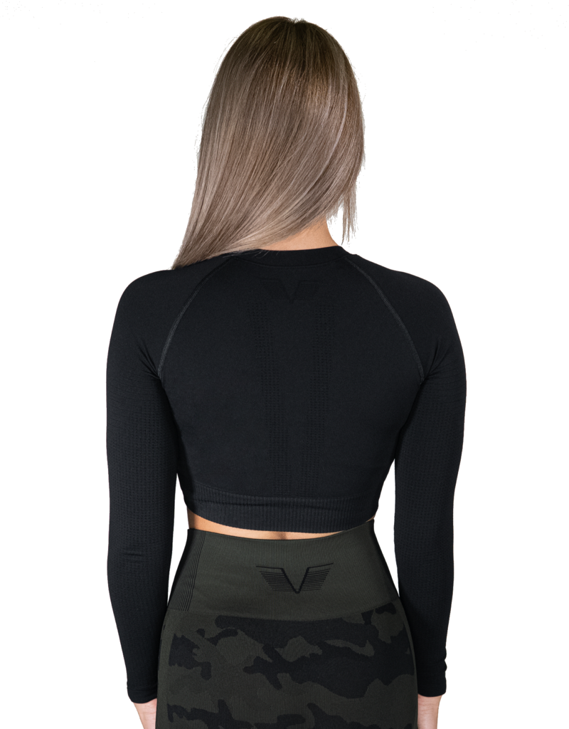 Gavelo Gavelo Seamless Crop Top Black