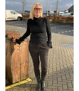 Rebelz Pantalon REB-1785 zwart wit