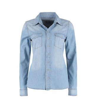 Red Button Blouse Bobby denim