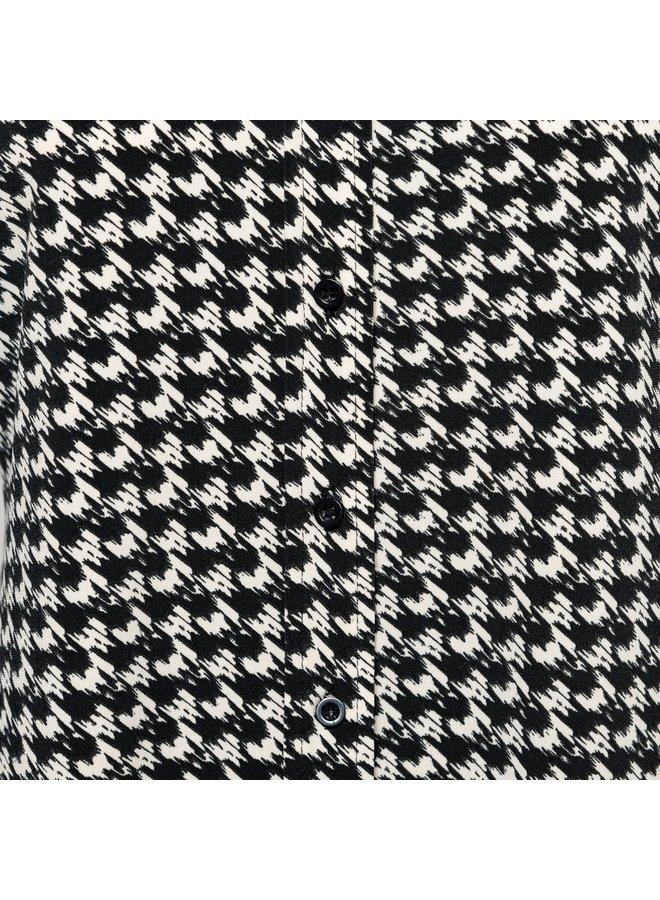 Blouse Lotte jersey zwart multi