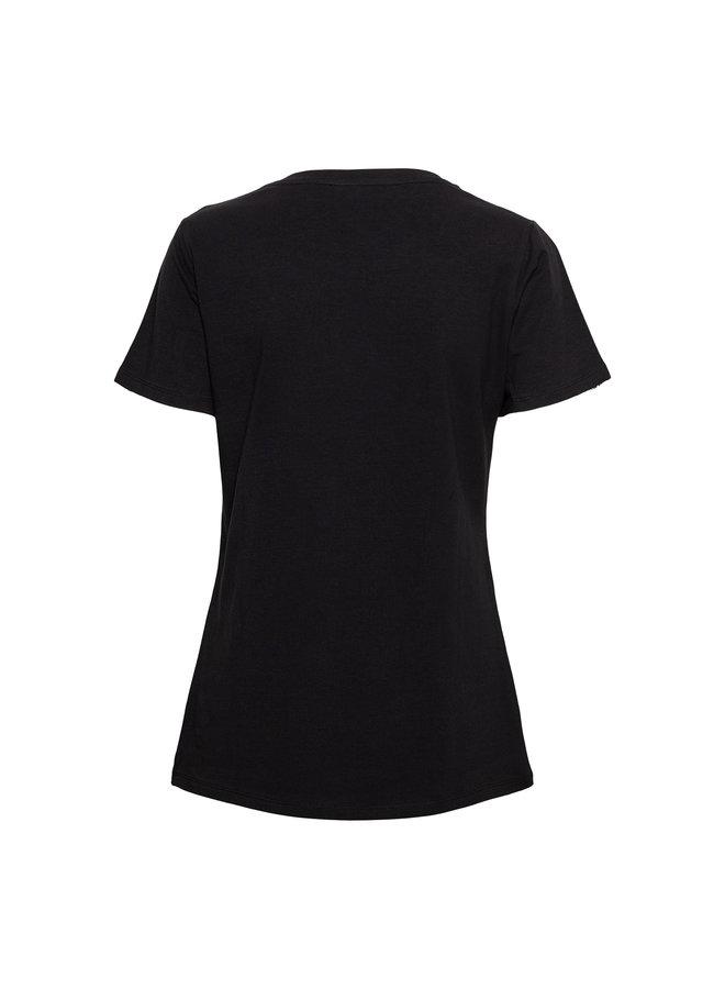 T-shirt Palm zwart