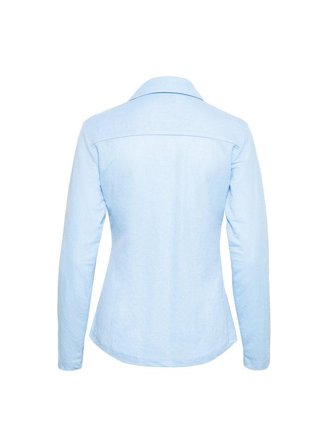 Blouse Lino licht blauw
