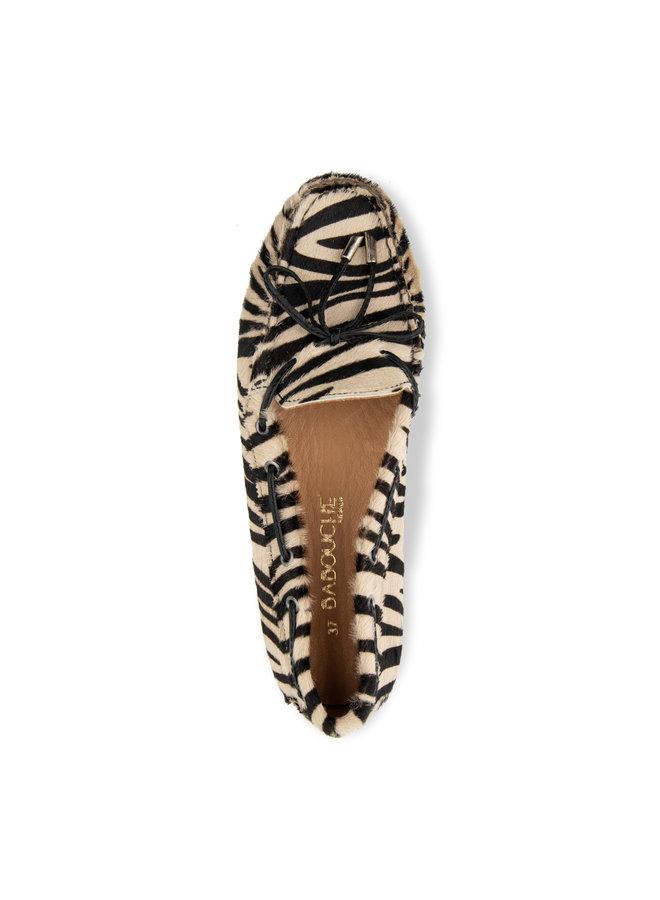 Mocassin zebra beige