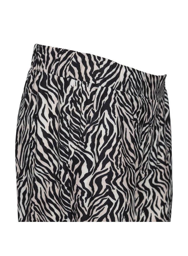 Broek Roos zebra zwart-zand