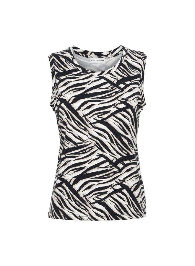 Top Veere zebra off black
