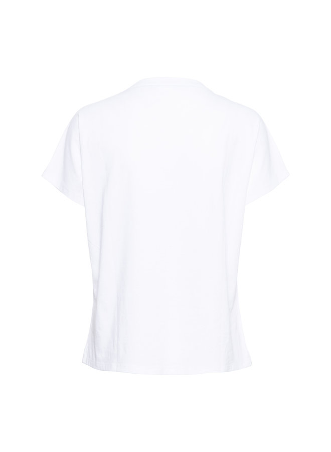 T-shirt Suze wit