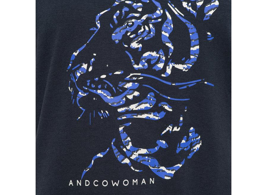 T-shirt Steffy tiger navy