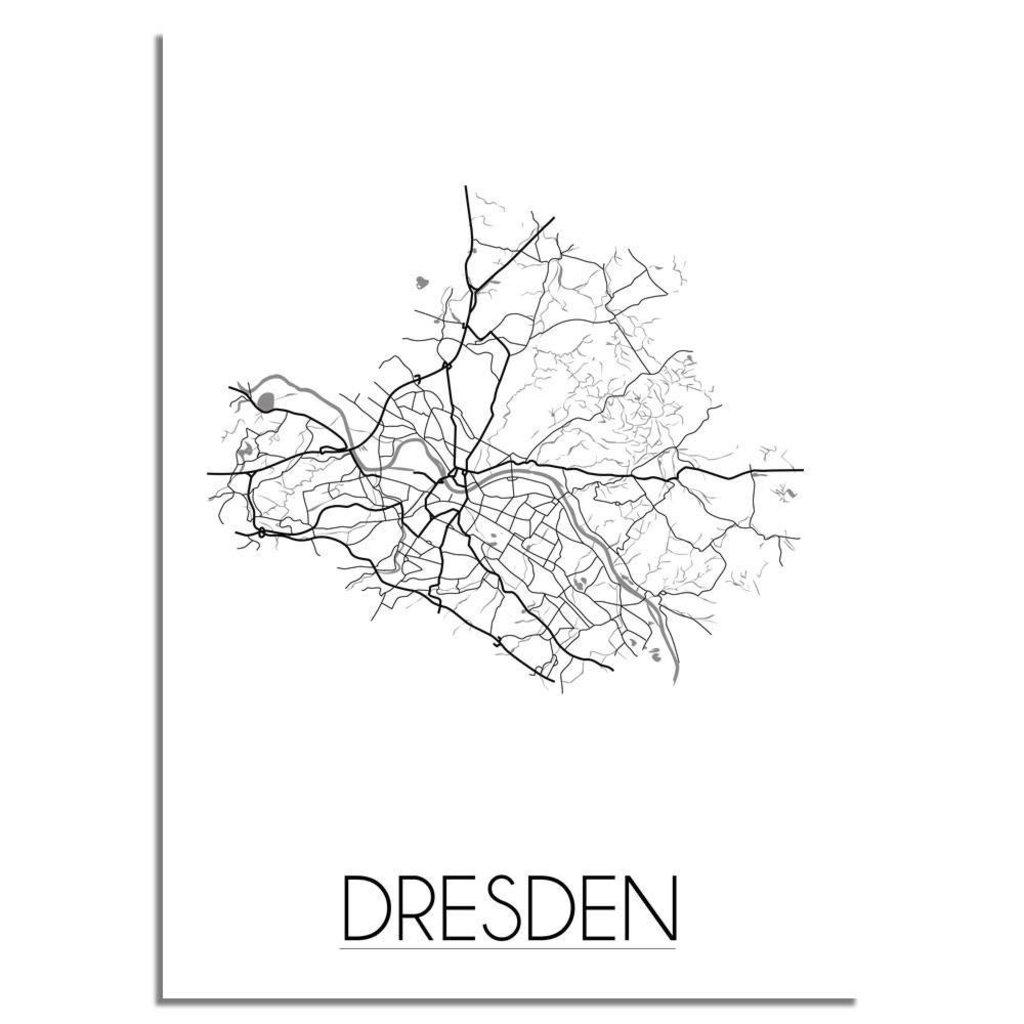 München Karte Schwarz Weiß.Designclaud Stadtplan Poster Dresden