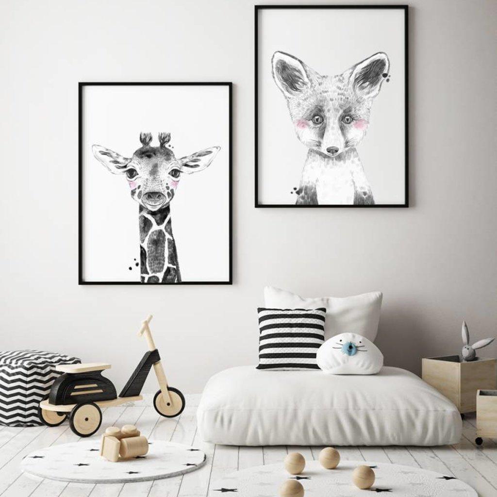 DesignClaud Giraffe Kinderzimmer Poster