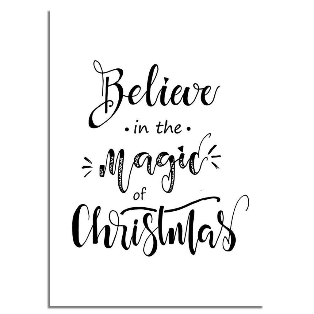 weihnachtsposter glauben sie an die magie von weihnachten. Black Bedroom Furniture Sets. Home Design Ideas