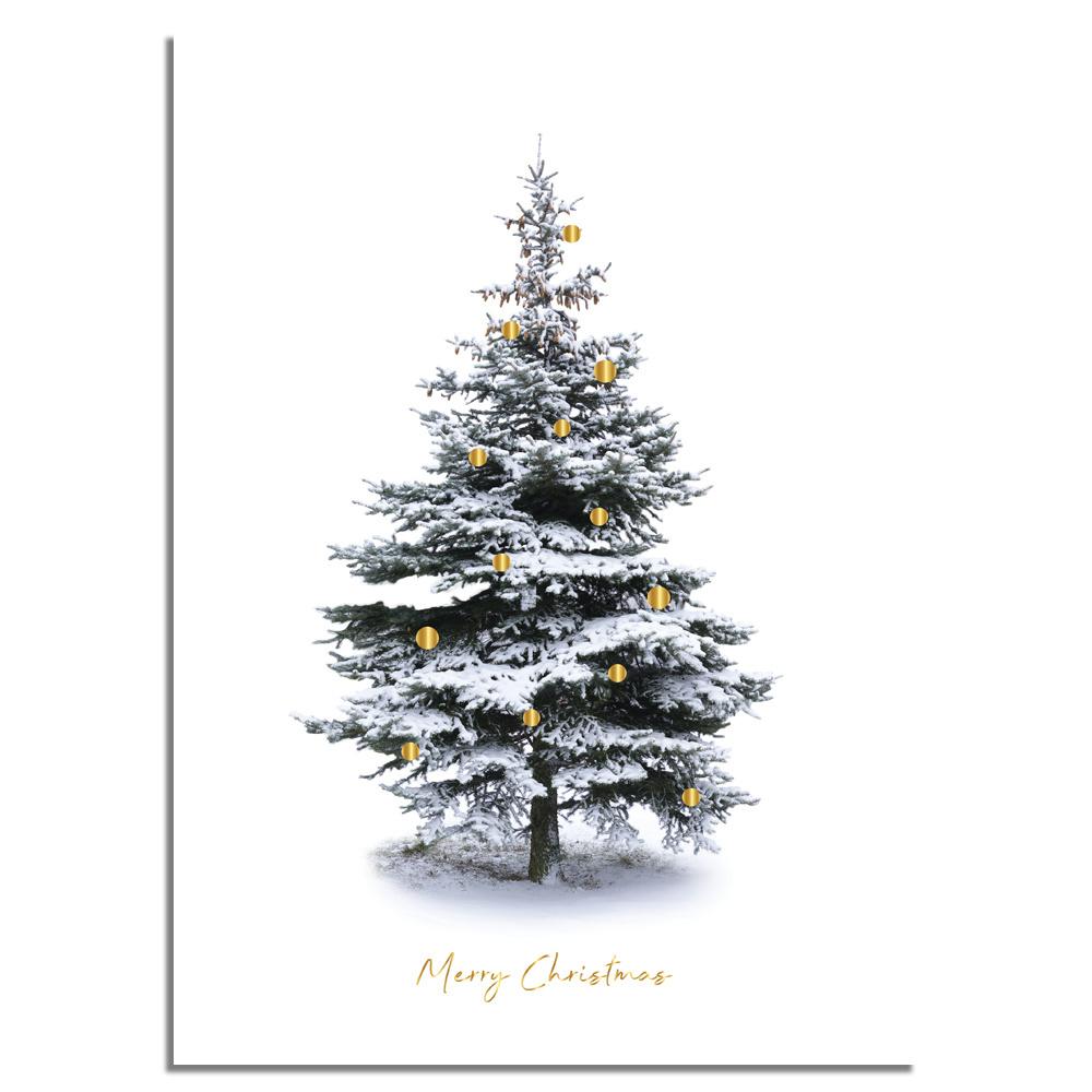 weihnachtsposter frohe weihnachten weihnachtsbaum gold. Black Bedroom Furniture Sets. Home Design Ideas