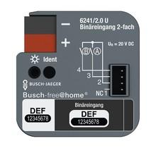 Binaire ingang 2-voudig, voor inbouwdoosmontage voor Busch-free@home®